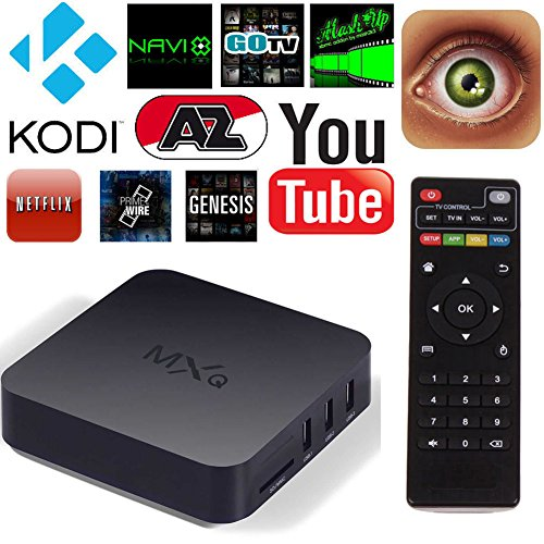 DIDUBUY® Android TV Box MXQ XBMC Quad Core KODI Box Smart TV Streaming  Media Player Built In Channel Updater for Free Movies Sports TV Series